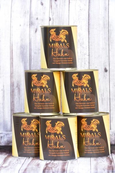 6 x 800g Das Zarteste vom Huhn an Mangold-Karotten Stampf mit Mango-Himbeerchutney