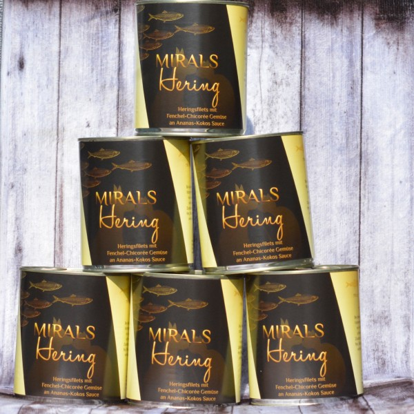 6x 780g Heringsfilets mit Fenchel-Chicorée Gemüse an Ananas-Kokos Sauce